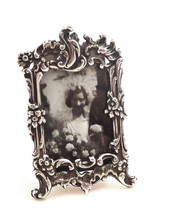 Antique Victorian Miniature Sterling Silver Photo Frame - Chester 1900