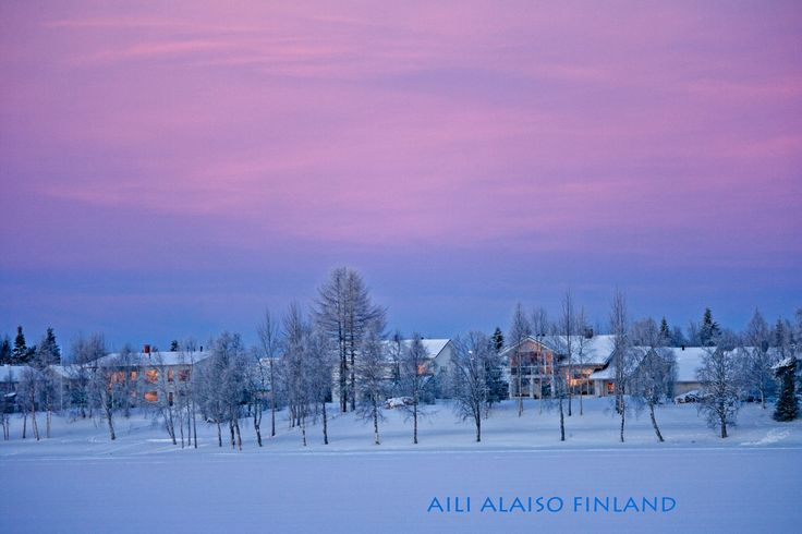 Cold winter evening ,Kuusamo Finland by Aili Alaiso