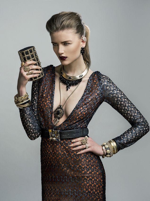 Tina Lobondi dress for NOUR London campaign