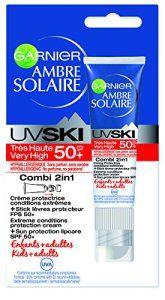 Garnier – Ambre Solaire – UV Ski – Stick Combi 2-en-1 FPS 50+ spécial Conditions Extrêmes – Lot de 2