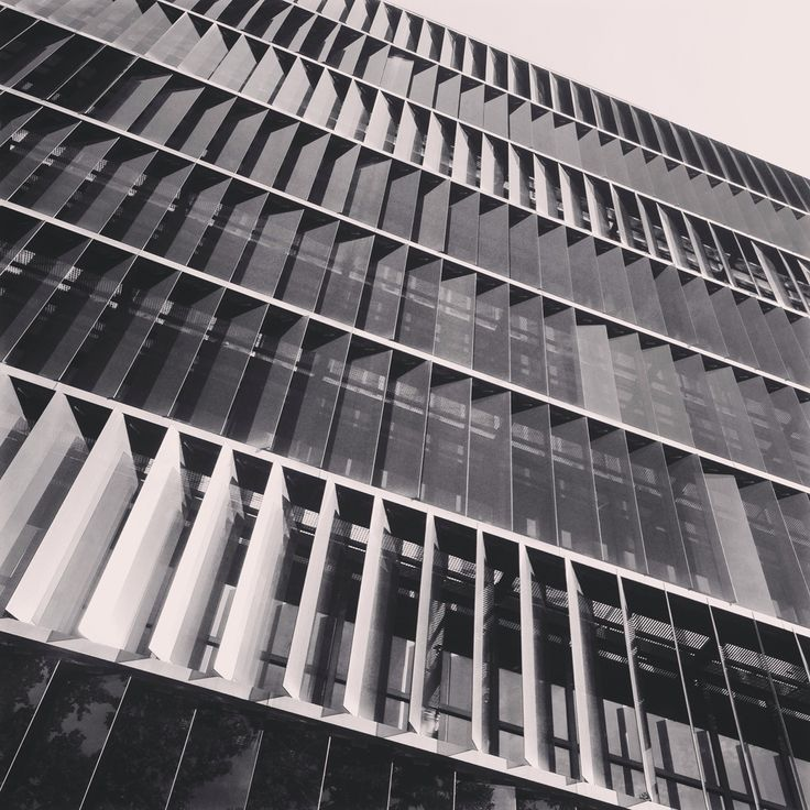 Vertical glass louvers on office building in Barcelona [516]   filt3rs