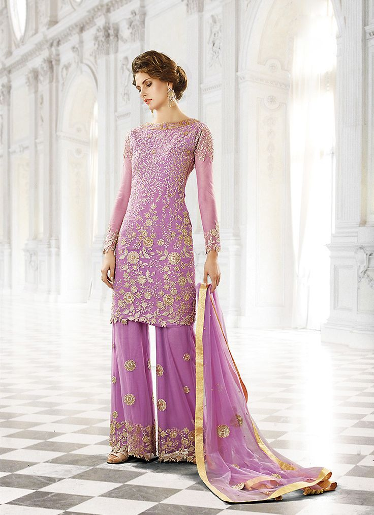 Straight Cut Style Fuchsia with Butta Work Incredible Unstitched Salwar Kameez