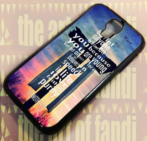 Bible Verses Christian 1 Timothy For Samsung S4 Black Rubber Case