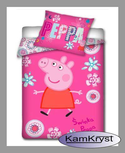 Peppa Pig 100x135 cm - baby crib bedding store KamKryst   Świnka Peppa 100x135 cm - pościel dziecięca do łóżeczka w sklepie KamKryst #peppa #peppa_pig #peppa_pig_bedding
