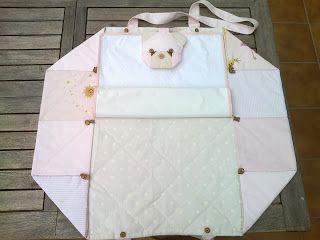 Maribel patchwork y algo mas bolso cambiador y babero - Cambiador bebe patchwork ...