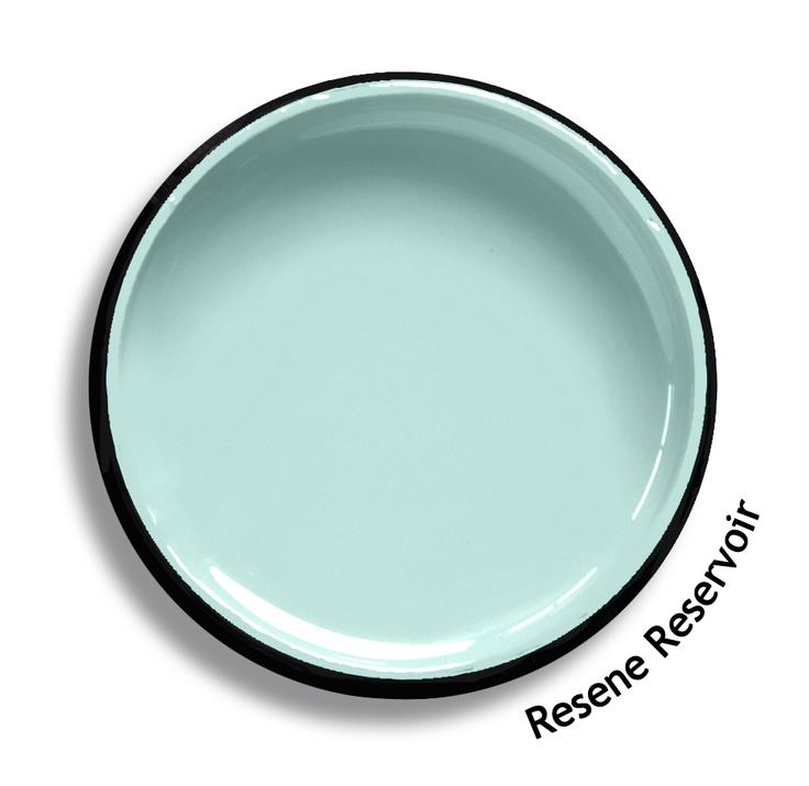 Resene Reservoir is a pastel aqua green, refreshing, dewy and clear as light. Try Resene Reservoir with provocative blue greens, rich raisin browns or pure whites such as Resene Windfall, Resene Toorak or Resene White. From the Resene The Range fashion colours. Latest trends available from www.resene.co.nz. Try a Resene testpot or view a physical sample at your Resene ColorShop or Reseller before making your final colour choice.