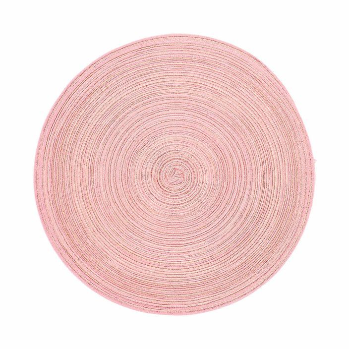 Placemat mottled, D: 38cm, pink, pink