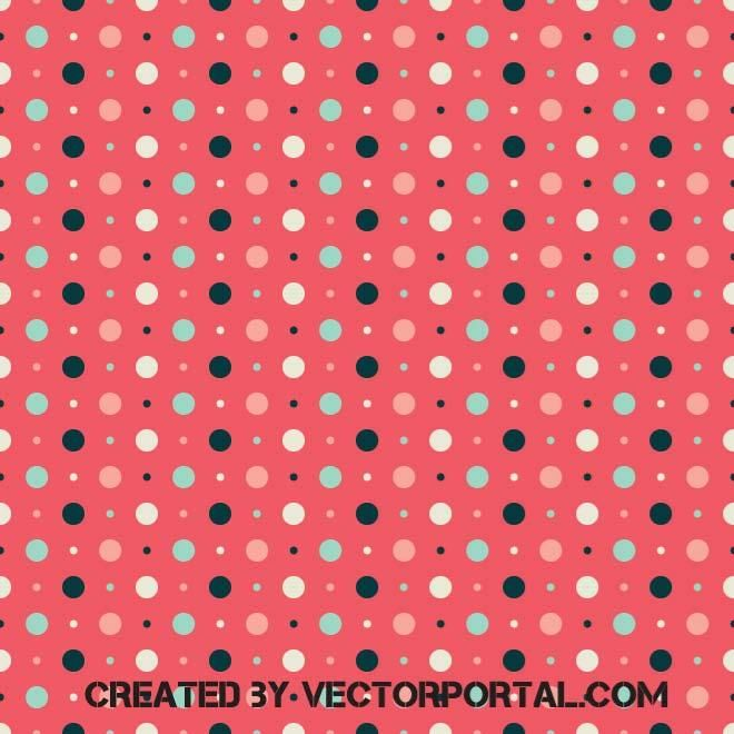 Retro background with polka dots vector