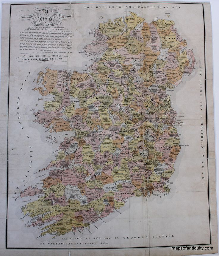 Clans Ireland Map Reproduction u2013 Maps of