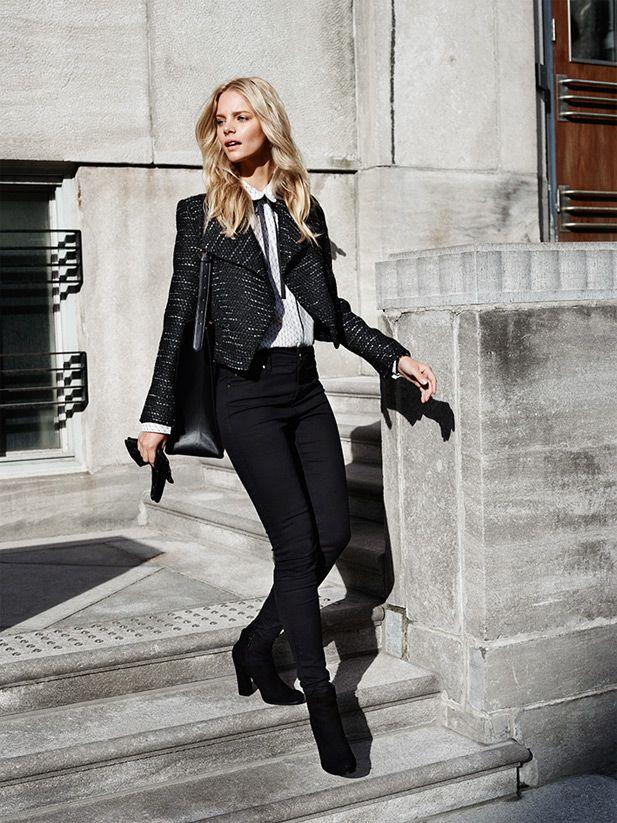#black#skinny#trousers#shiny#threads#short#coat