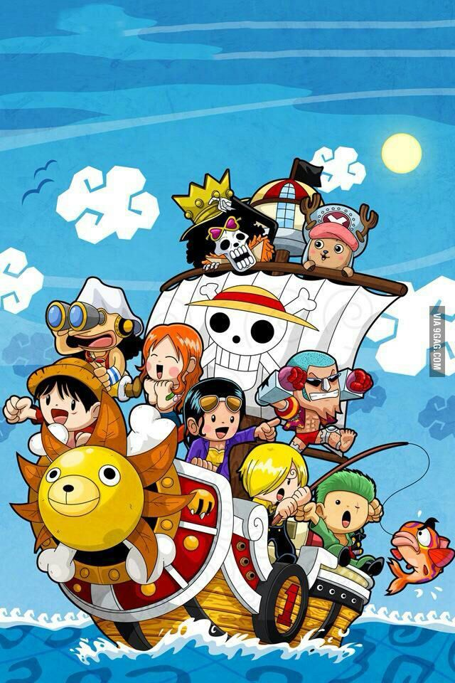 Phone wallpaper one piece style Animasi