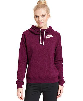 Nike Rally Funnel-Neck Sweatshirt Hoodie - Active Jackets Hoodies - Women - Macy's