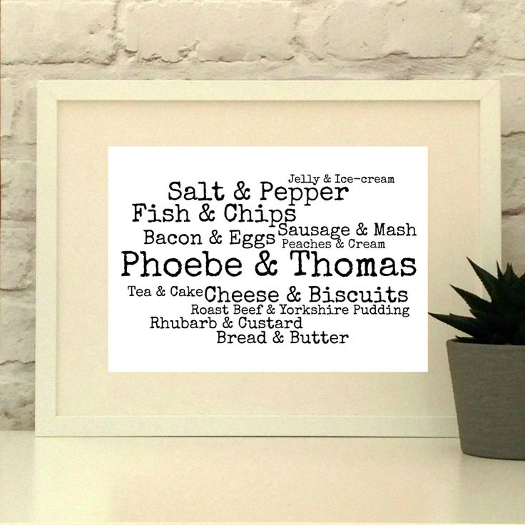 A personal favourite from my Etsy shop https://www.etsy.com/uk/listing/177326943/personalised-wedding-gift-couple-name