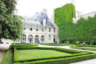 """THE SECRET GARDENS OF HOTEL SULLY Fodor's describes this early Baroque gem as """"one of the city's loveliest hôtels particuliers"""", and I'd have to agree. Hôtel de Sully, on the Rue Saint-Antoine in the Marais (just near the Place des Vosges), is truly one of the city's best-kept secrets, and perhaps that's a good thing. Less people to obscure the glorious garden views. The classical formal gardens are a delight on a sunny day (or even a winter's one): quiet, free from Marais noise and traffic"""