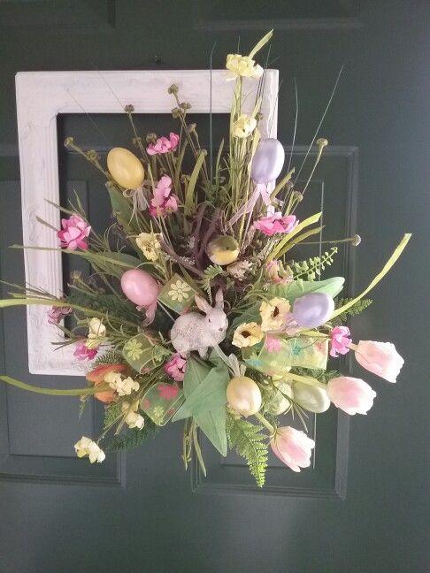 Spring and Easter arrangement for door