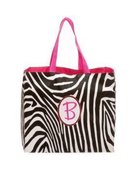 Home Accents  Zebra Monogram Shopping Bag