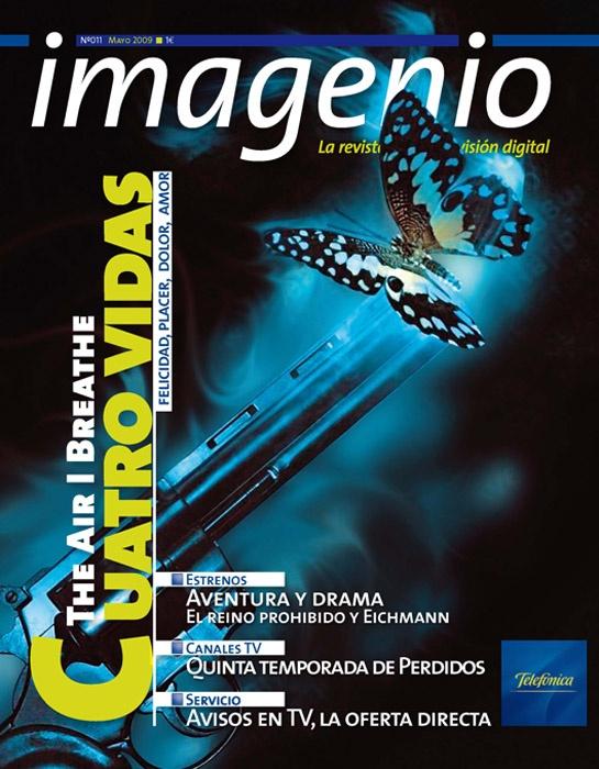 Portada de la revista Movistar Imagenio, en su primera etapa impresa.