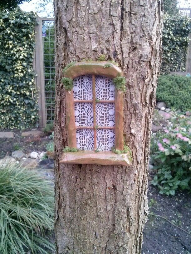 how to make fairy windows for trees