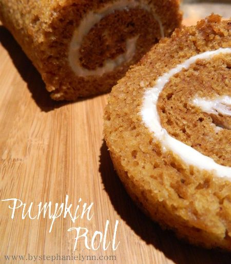 Pumpkin Roll...I've always wanted to attempt one and never know what to do with all my leftover pumpkin.