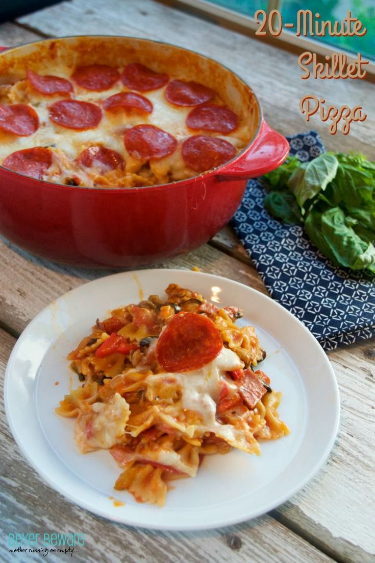 This 20-minute skillet pizza casserole recipe is full of flavor, packed with veggies and will be a family favorite for dinner.