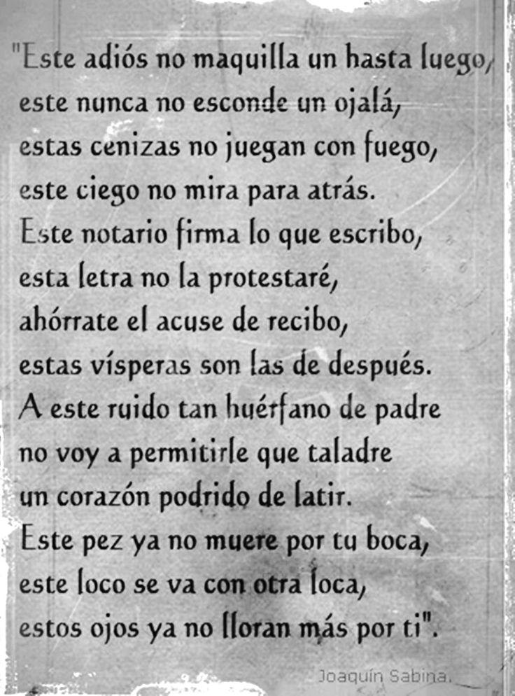 ADIOS Joaquin Sabina
