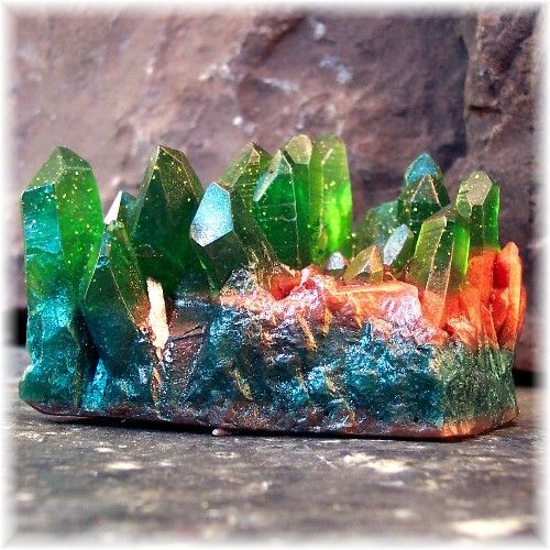 Soap Rocks Emerald Gemstone Tall Crystal Mineral Formation Style