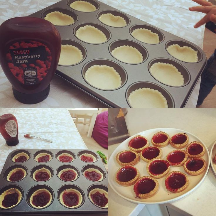 As they get older the boys i #nanny for love baking! Baking with two 2.5y olds who are very eager can have its challenges so sometimes i make it easier for myself but the boys still get to do alot of the work.  Today we made some jam tarts. I bought ready rolled pastry (why wouldnt you!?) and some squeezy jam. And hey presto jam tarts!! We also bought some frozen mixed berries and made some fruit parcels (ill post a pic on a different post for them). They cannot wait to eat them thats for…