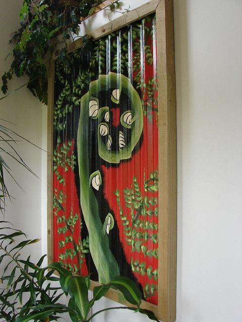 Corrugated Iron Garden Art by sallyNZ, via Flickr