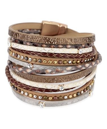 $24.99 This layered bracelet dons dozens of crystals that add shimmering style to your ensemble.