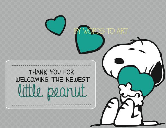 CUSTOM Snoopy Matching Thank You Cards   Baby Shower Invitations   Birthday     Made