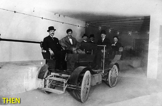 Studebaker 1909. Electric transport in Washington tunnels