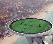 World highest tennis court in Dubai and needing to have stocks in tennis balls.....