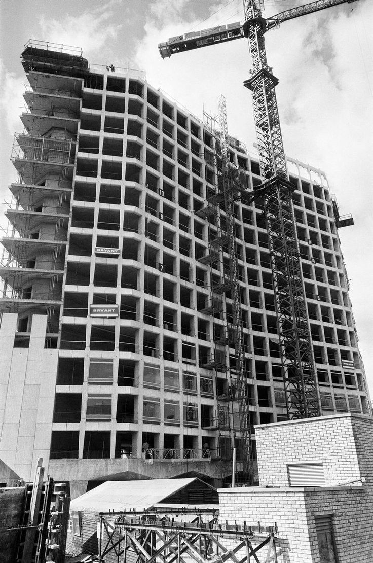 Construction of Alpha Tower, headquarters of the commercial television company ATV in August 1971 @birminghampost