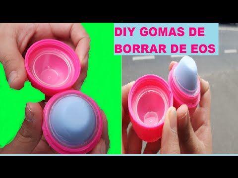 DIY GOMA DE BORRAR DE EOS | Como hacer BORRADORES CASEROS EOS - YouTube