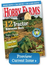 Hobby Farms - Current Issue..Hobby Farms should outnumber factory farming...I support small farms and hope factory farming is closed out because they practice abuse toward animals.