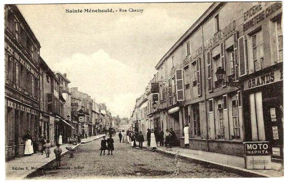 #Sainte #Menehould #France Rue Chanzy #Antique #Victorian # Postcard #French Street Scene View c1910 by OakwoodView