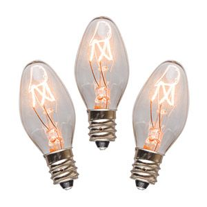 15 WATT LIGHT BULBS - 3 PACK Fits the Nightlight Scentsy Warmer.  Specially made for Scentsy Nightlight Warmers!