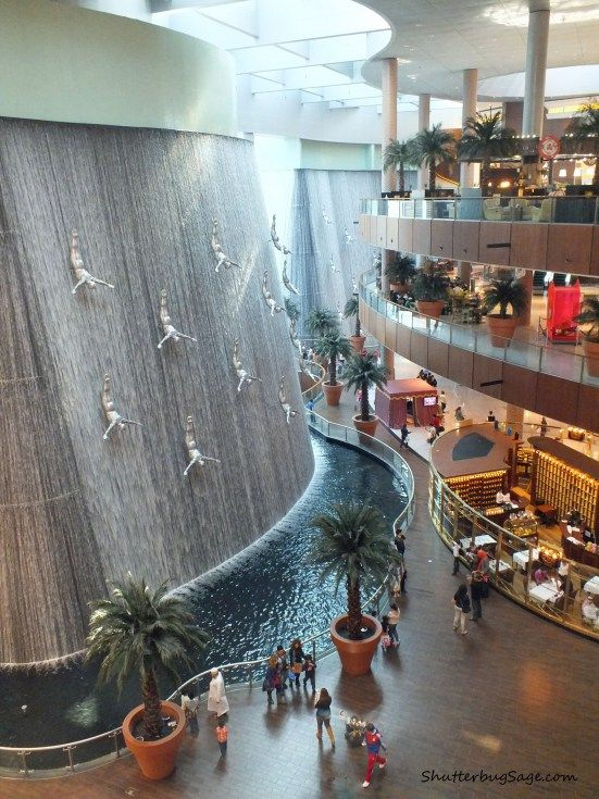 Waterfall at Dubai Mall, Dubai, United Arab Emirates