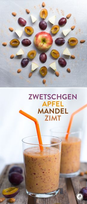 Zwetschgen-Apfel-Mandel-Smoothie | Rezept zum #SmoothieMontag von feiertaeglich.de