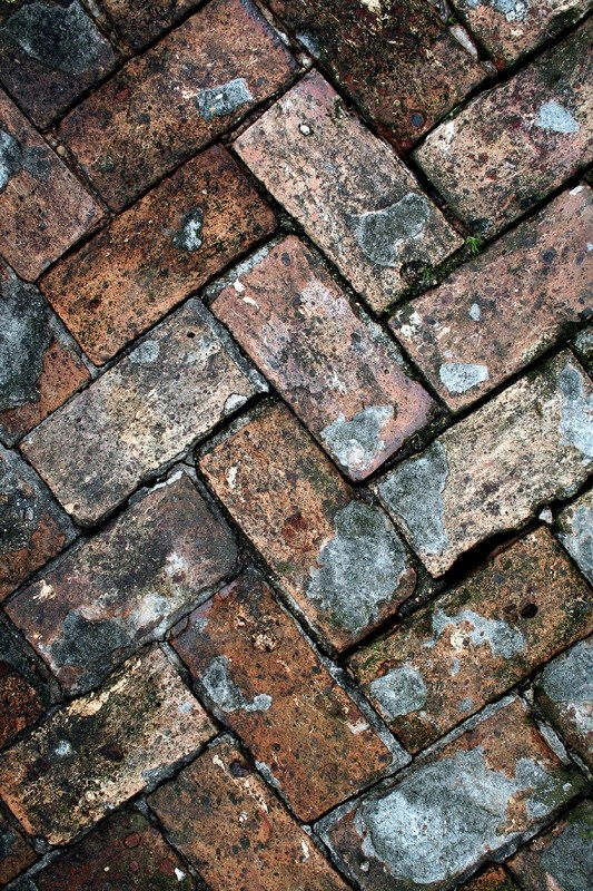 Colors and #texture of a brick ground