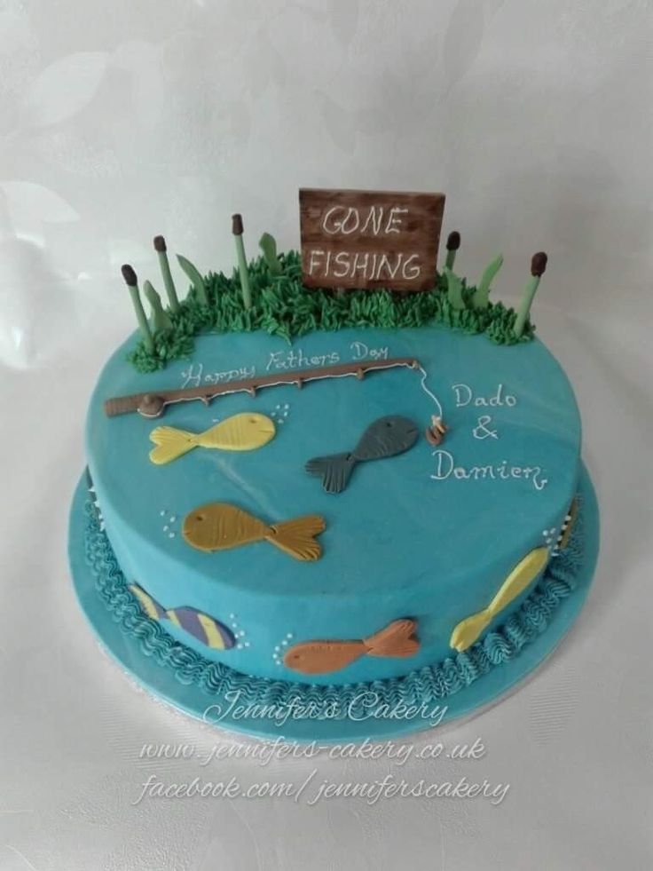 Best 25 gone fishing cake ideas on pinterest for Gone fishing cake