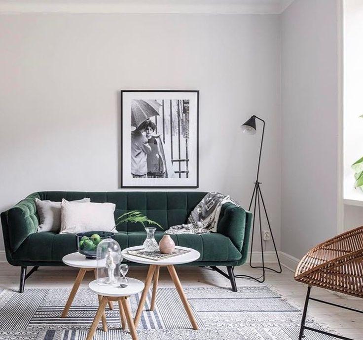 Mejores 19 imágenes de sofá terciopelo verde en Pinterest