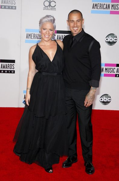 Pregnant Pink performs at the American Music Awards