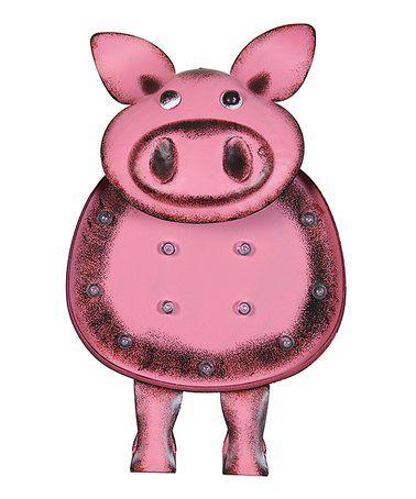 Look at this #zulilyfind! Pink Pig Solar LED Marquee #zulilyfinds