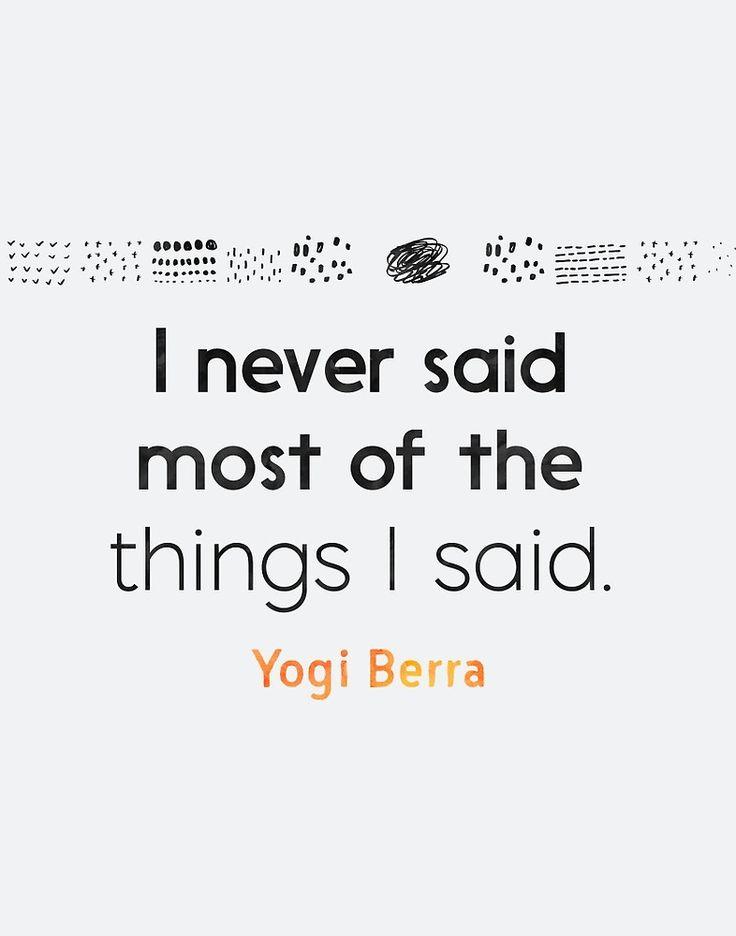 Yogi Berra quote by Pranatheory #funny #quote