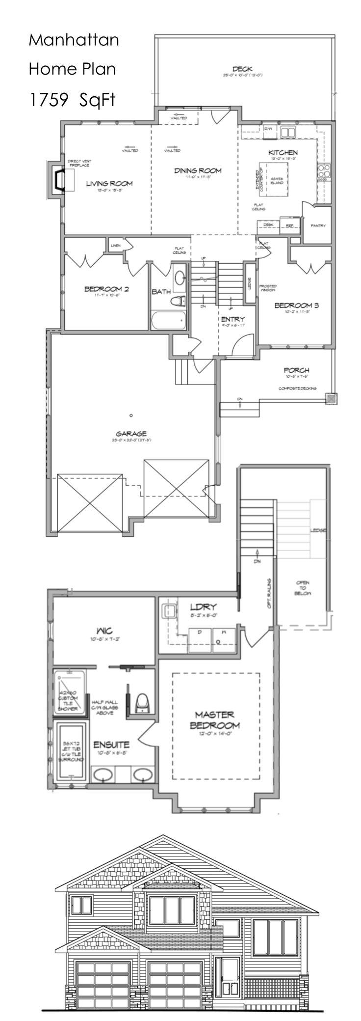 Manhattan home plan by Krest Homes  Central Alberta custom home builder