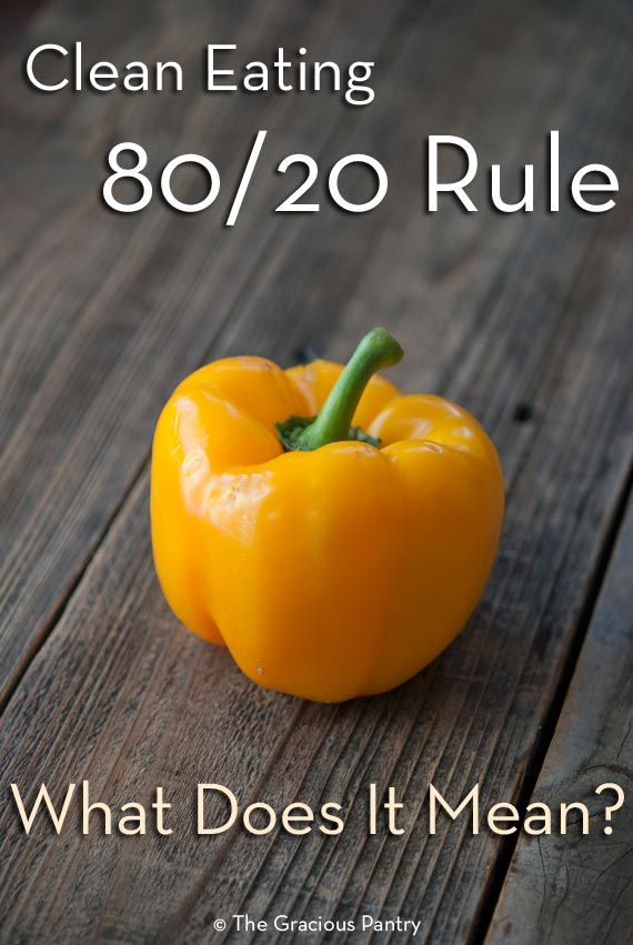 The Clean Eating 80/20 Rule. What is it? How do you use it? We'll cover specific numbers and how to apply them to your diet. From TheGraciousPantry.com