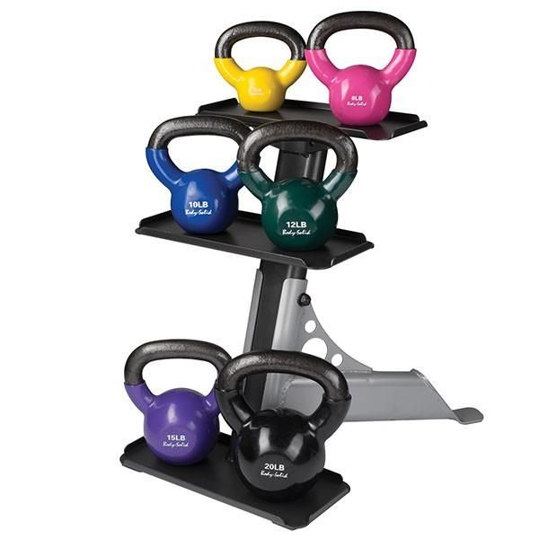 Body Solid 5-30 lb Kettlebell Set with Rack