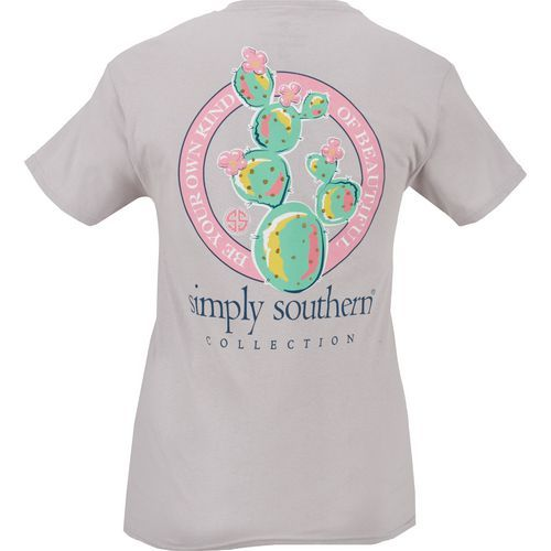 d030f52dd60 Simply Southern Women s Cactus Graphic T-shirt (Silver