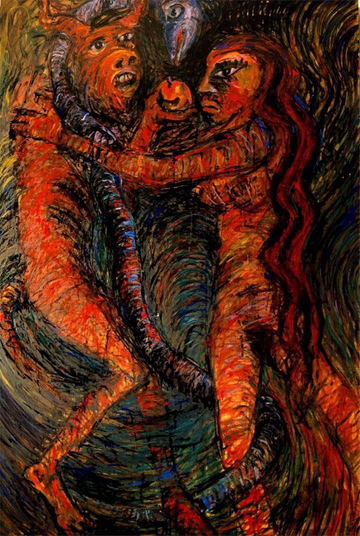 O pecado capital, Pintura Painel Animais original por Alberto Péssimo